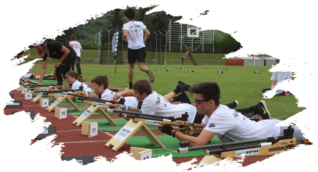 biathlon experience initiation albertville albe'games evenement organisateur sportif
