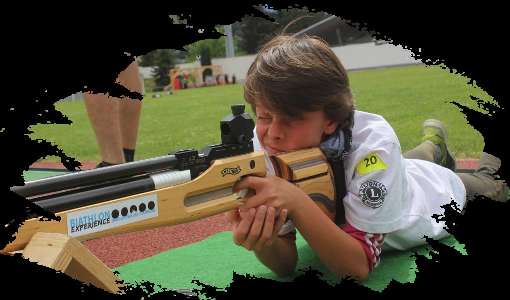 biathlon experience initiation albertville animation grand public enfant