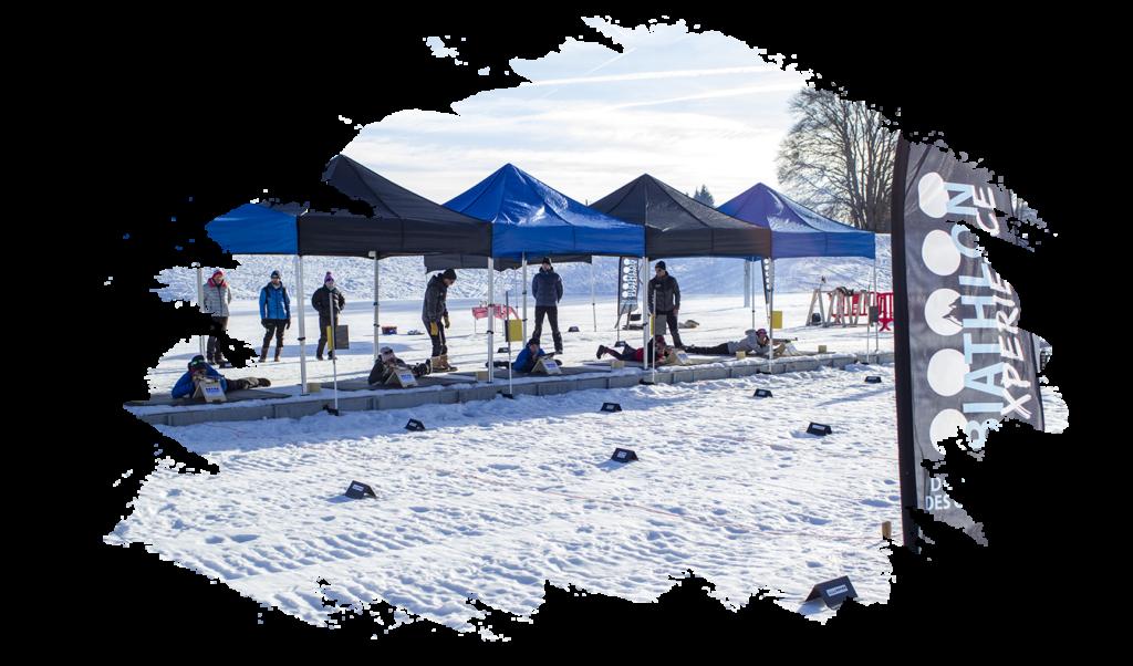 biathlon experience initiation feclaz groupe séminaire