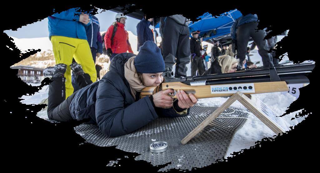 biathlon experience initiation tignes groupe séminaire